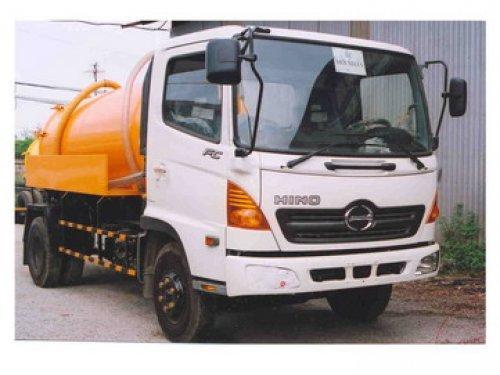 xe bồn hino FC chất thải