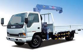 xe tải isuzu 5t gắn cẩu
