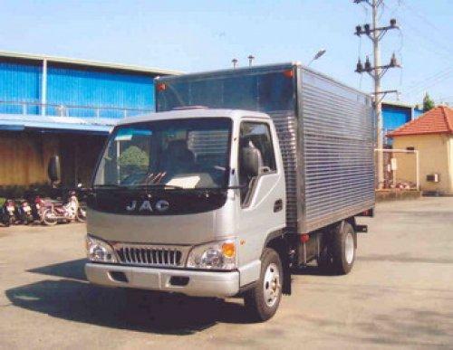 Xe tải jac 1,25T thùng mui kín