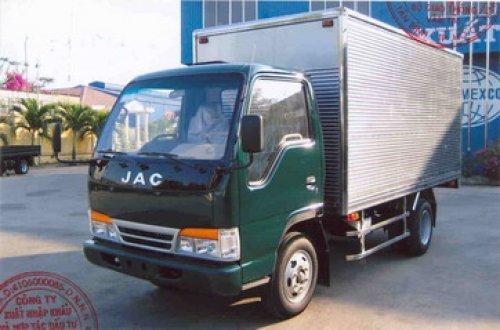 Xe tải jac 1t7 thùng mui kín