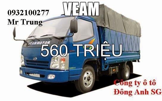 xe tải veam camel 4t5 thùng dài